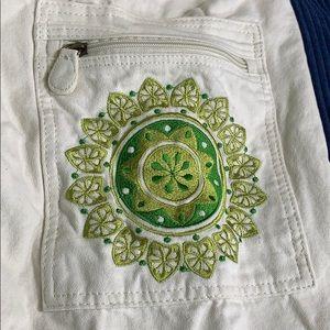 Gaiam yoga mat bag natural white & green w pocket